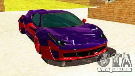 Ferrari F458 Italia DMC para GTA San Andreas