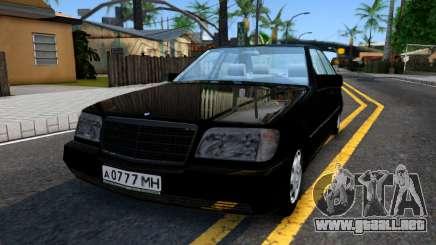 """Mercedes-Benz W140 S600 From """"Brigada"""" para GTA San Andreas"""