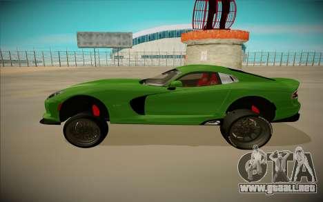 Dodge Viper GTS Off Road para GTA San Andreas vista posterior izquierda