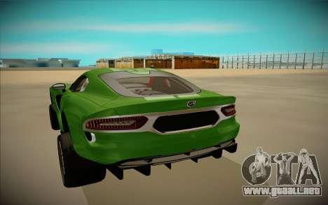 Dodge Viper GTS Off Road para GTA San Andreas vista hacia atrás
