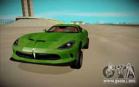 Dodge Viper GTS Off Road para la visión correcta GTA San Andreas