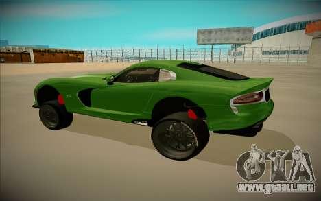 Dodge Viper GTS Off Road para GTA San Andreas left