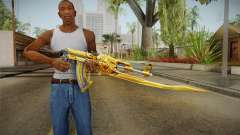 Cross Fire - AK-47 Beast Noble Gold v1 para GTA San Andreas