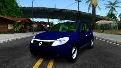 Renault Sandero azul para GTA San Andreas