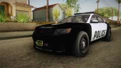 GTA 5 Cheval Fugitive Police para GTA San Andreas
