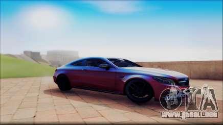 Mersedes-Benz C63 Coupe Tuning para GTA San Andreas