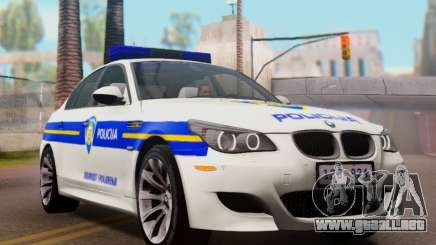 BMW M5 Croatian Police Car para GTA San Andreas