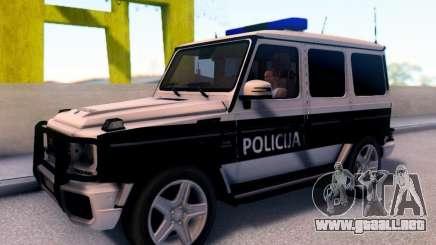 Mercedes-Benz G65 AMG Coche de la Policía de BOSNIA y herzegovina para GTA San Andreas