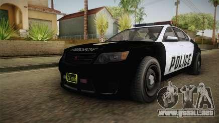 GTA 5 Cheval Fugitive Police para GTA San Andreas