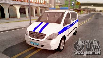 Mercedes-Benz Vito W639 Russian Police para GTA San Andreas