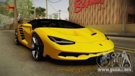Lamborghini Centenario Roadster para GTA San Andreas