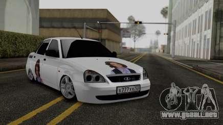 Lada Priora En La Parte Inferior para GTA San Andreas