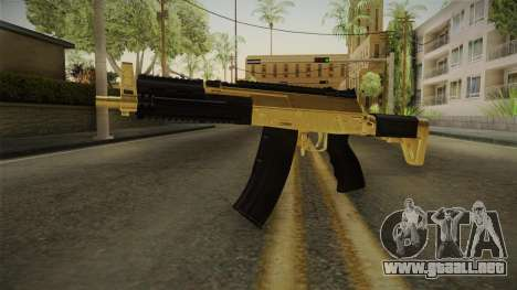 AK-12 Gold para GTA San Andreas segunda pantalla