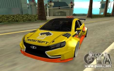 Lada Vesta WTCC para GTA San Andreas left
