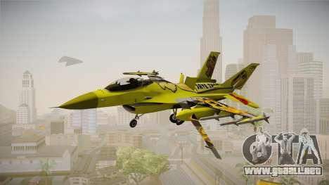 FNAF Air Force Hydra Golden Freddy para GTA San Andreas vista posterior izquierda