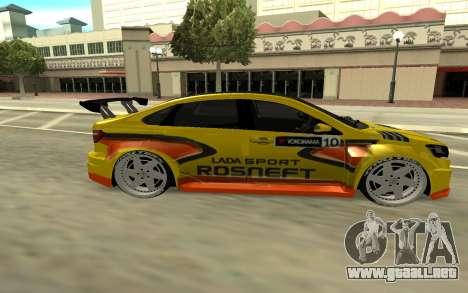 Lada Vesta WTCC para GTA San Andreas vista hacia atrás
