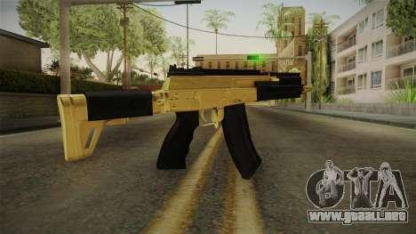 AK-12 Gold para GTA San Andreas tercera pantalla