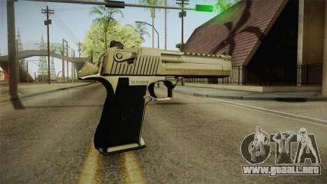 Desert Eagle 24k Gold para GTA San Andreas tercera pantalla