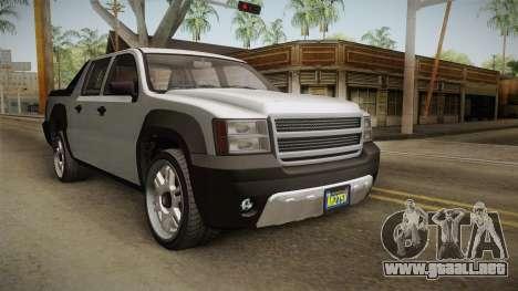 GTA 5 Declasse Granger Pickup para GTA San Andreas