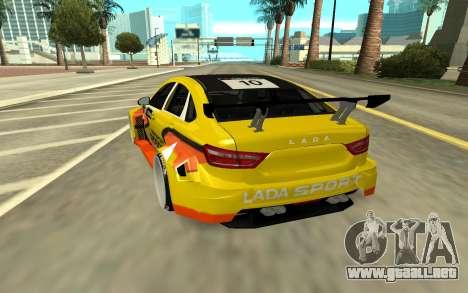 Lada Vesta WTCC para GTA San Andreas vista posterior izquierda