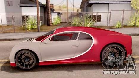 Bugatti Chiron para GTA San Andreas left