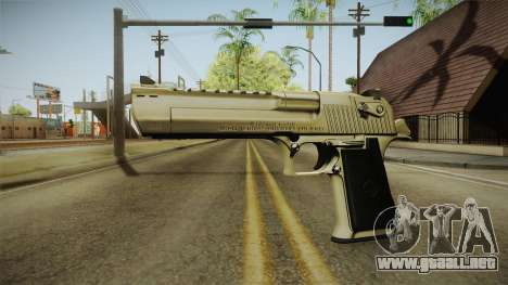 Desert Eagle 24k Gold para GTA San Andreas segunda pantalla