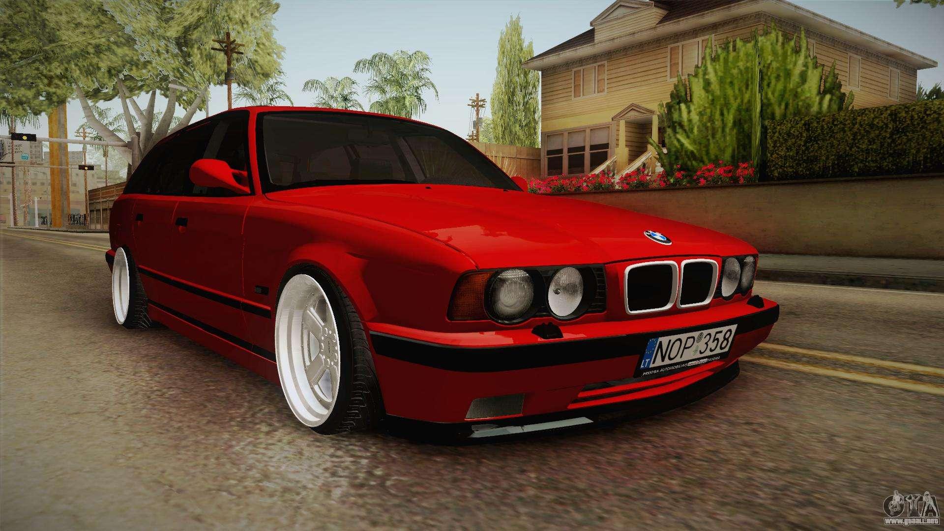 Bmw 5 Series E34 Touring Stance Para Gta San Andreas