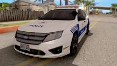 Ford Fusion 2011 Turkish Police para GTA San Andreas