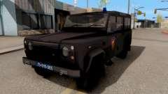 Land Rover Defender De La Gendarmería, Which para GTA San Andreas