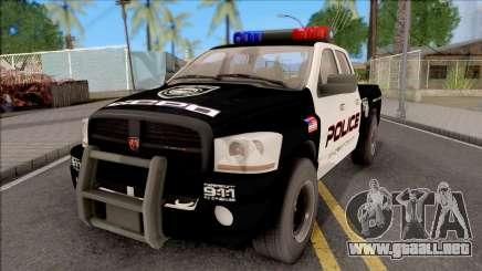 Dodge Ram High Speed Police para GTA San Andreas