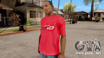 Deep Web T-Shirt para GTA San Andreas