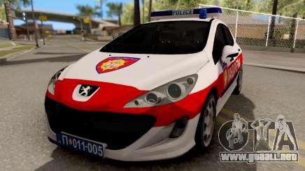 Peugeot 308 Žandarmerija para GTA San Andreas