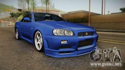 Nissan Skyline GT-R34 Tunable para GTA San Andreas