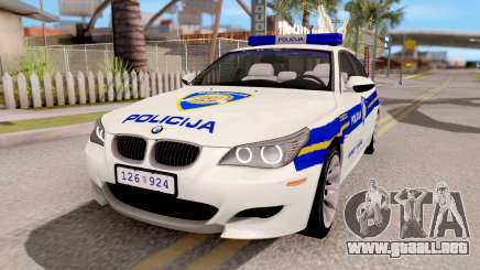 BMW M5 E60 Croatian Police Car para GTA San Andreas