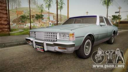 Chevrolet Caprice 1985 Stock para GTA San Andreas