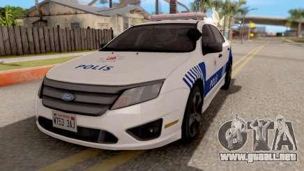 Ford Fusion 2011 Turkish Police para GTA San Andreas
