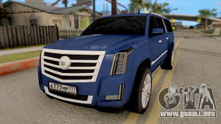 Cadillac Escalade Long Platinum 2016 para GTA San Andreas