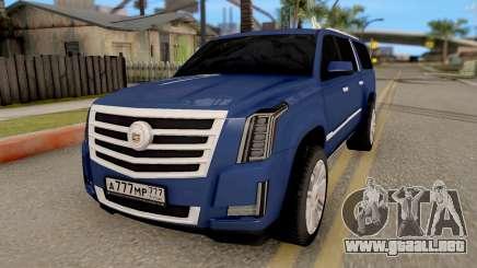Cadillac Escalade Long Platinum 2016 para GTA San Andreas