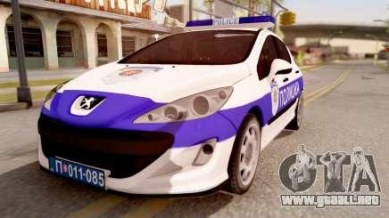 Peugeot 308 Policija para GTA San Andreas