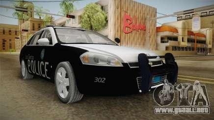 Chevrolet Impala 2009 LSPD para GTA San Andreas