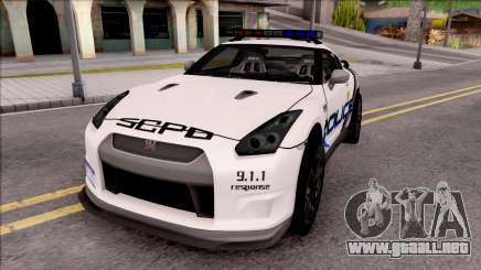 Nissan GT-R 2013 High Speed Police para GTA San Andreas