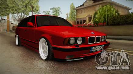 BMW 5 Series E34 Touring Stance para GTA San Andreas