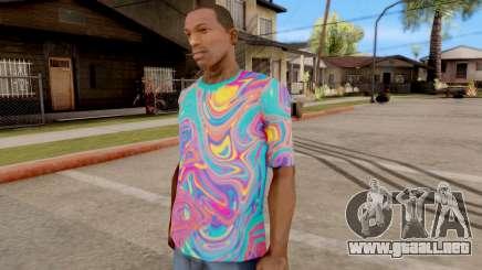 T-Shirt Psicodélico para GTA San Andreas