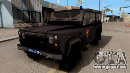 Land Rover Defender De La Gendarmería, Which para GTA San Andreas