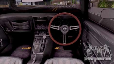Chevrolet Corvette C3 Stingray para visión interna GTA San Andreas