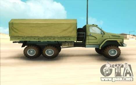 Ural SIGUIENTE Militar para GTA San Andreas left
