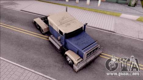 Custom Roadtrain para la visión correcta GTA San Andreas