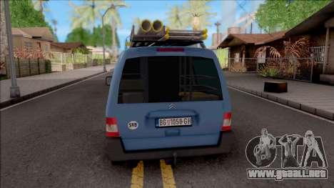 Citroen Berlingo Mk2 Van para GTA San Andreas vista posterior izquierda