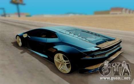 Lamborghini Huracan Custom para GTA San Andreas left