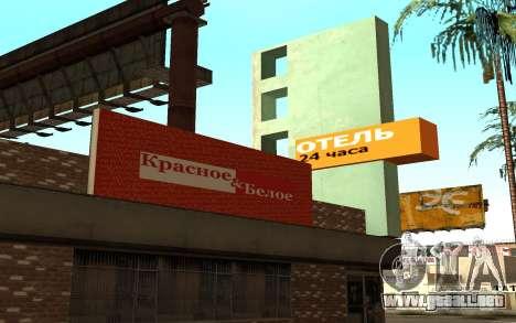 Nuevas texturas del hotel Incluyen para GTA San Andreas segunda pantalla